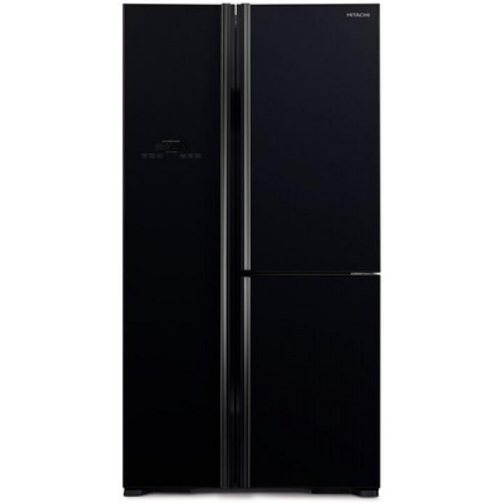 Холодильник Hitachi R-M 702 PU2 GBK черное стекло